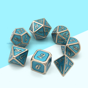 Crystal Kingdom Metal Dice Set