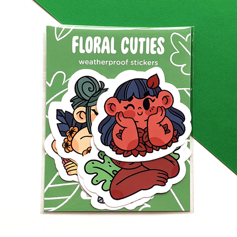 Floral Cuties sticker pack by jushmu