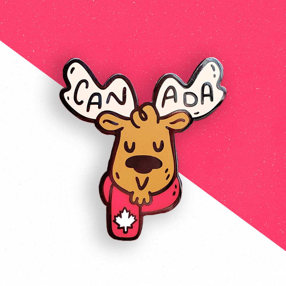 Canadian moose enamel pin by jushmu