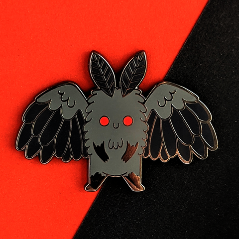 mothman enamel pin by jushmu