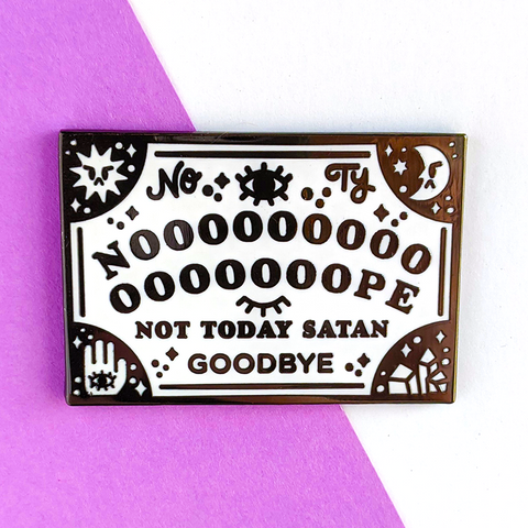 nope ouija enamel pin by jushmu