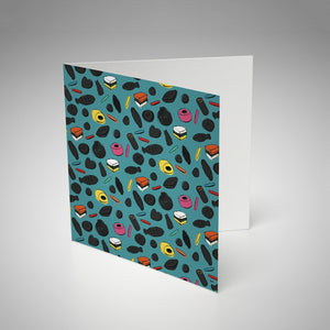 Greeting Card / Liquorice Blue