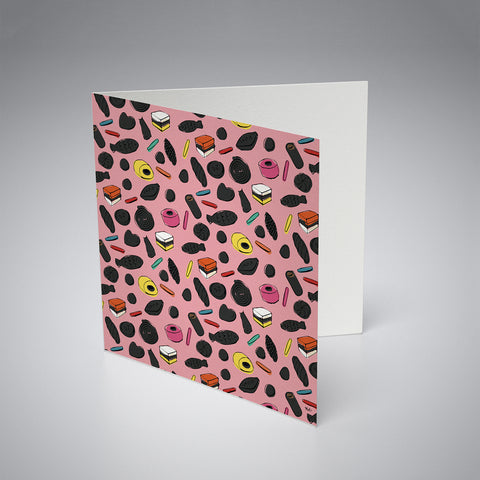 Greeting Card / Liquorice Pink