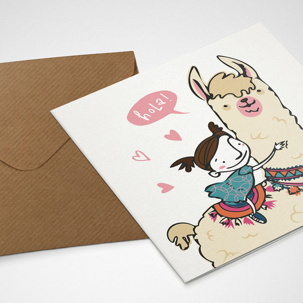 Greeting Card / Hola Lama