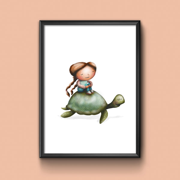 Turtle Ride / Art Print