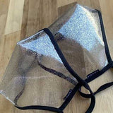 SACHIKA Transparent Sparkly Clear Face Mask -USA Made - SACHIKA® - Official Site