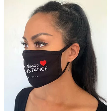"SACHIKA Cotton Jersey Face Mask "" Love Knows No Distance "" - SACHIKA® - Official Site"
