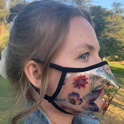 SACHIKA Butterfly Clear Face Mask - Made in USA - SACHIKA® - Official Site