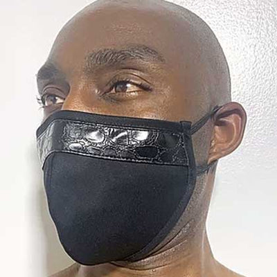"100% Cotton 2-Layer Croco ""Moody"" Face Mask - SACHIKA® - Official Site"