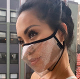 Valentine's Red Glitter Clear Face Mask - Made in the USA- Smile Mask by SACHIKA - SACHIKA® - Official Site