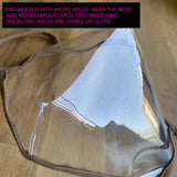 NEW! The Reveal 100% Clear Mask Bridal Edition - WHITE Trim- Made in USA - SACHIKA® - Official Site