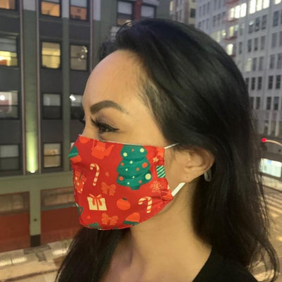 Christmas Holiday Face Masks- 2-Layer with Pocket  Filter-Adjustable earloops by SACHIKA - SACHIKA® - Official Site
