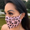 Pink Leopard Silk Cotton FaceMask 2-Layer adjustable size- with filter pocket by SACHIKA - SACHIKA® - Official Site
