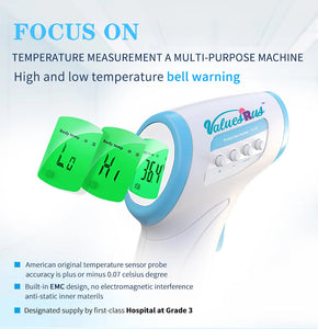 Infrared Thermometer by ValuesRus, Hospital Grade Designed for Professionals and Home Use. Programmable for more Accuracy