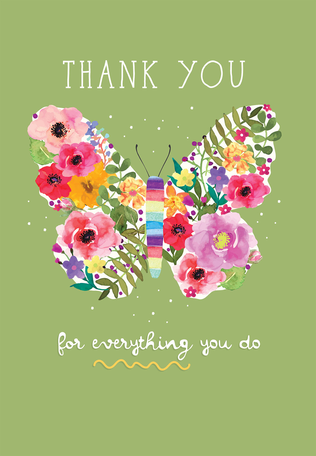 Butterfly - Thank You Card