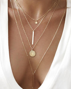 Tiered Star Pendant Necklace