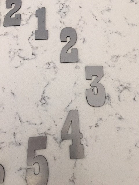 5 Inch Metal Numbers- RUSTY or NATURAL Steel Finish