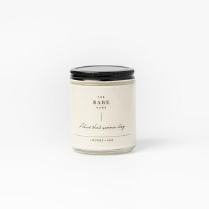 The Bare Home Candle - Lavender + Sage