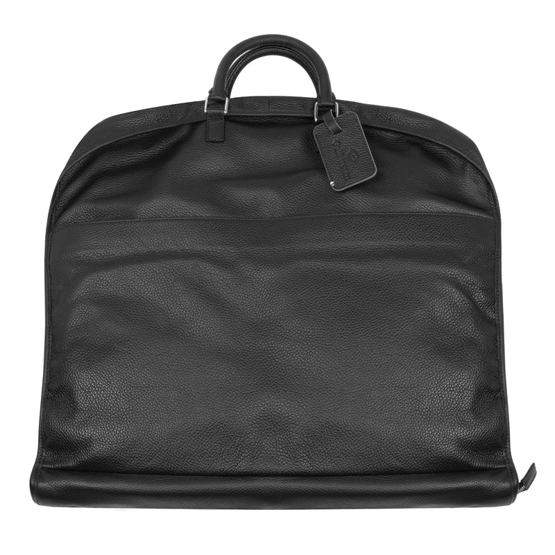 Garment Bag - Black Leather