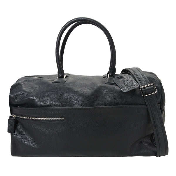 48-hour Duffel Bag - Black Leather