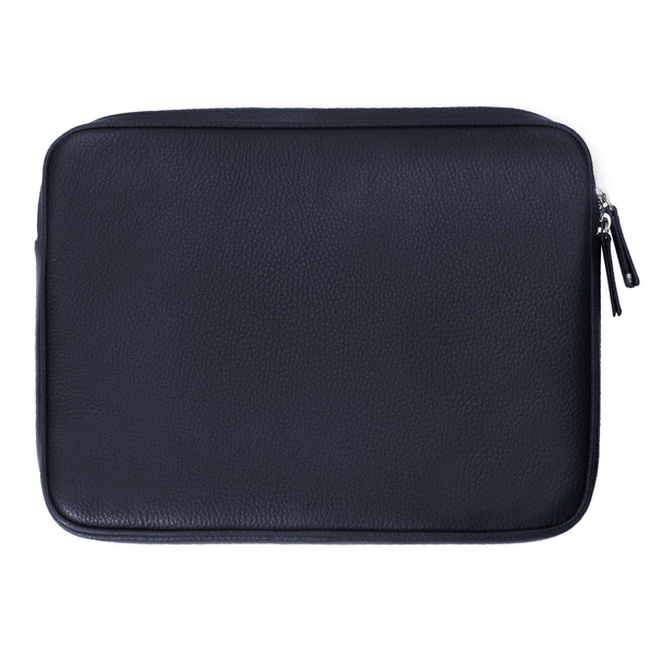"Leather 12"" iPad Case - Navy"