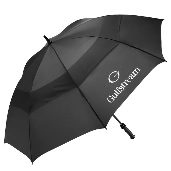 Gulfstream Black Vented Golf Umbrella