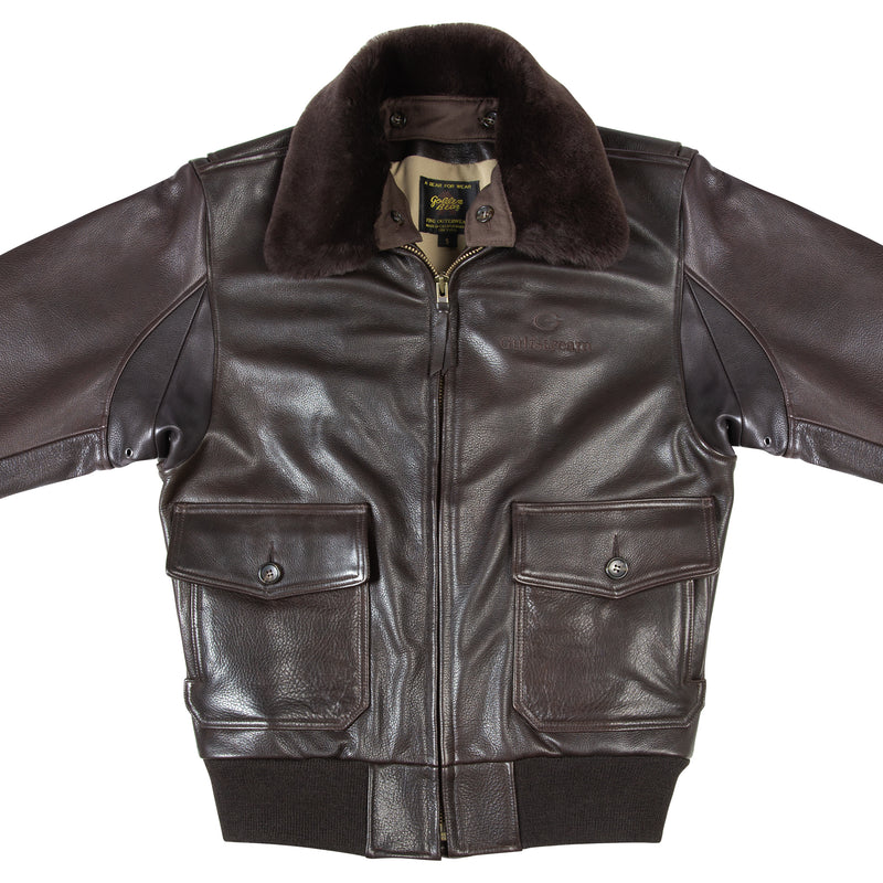Men's Gulfstream Signature G1 Leather Bomber Jacket