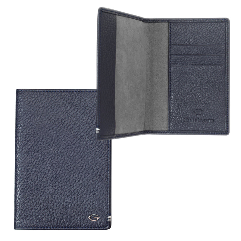 Leather Passport Cover - Navy