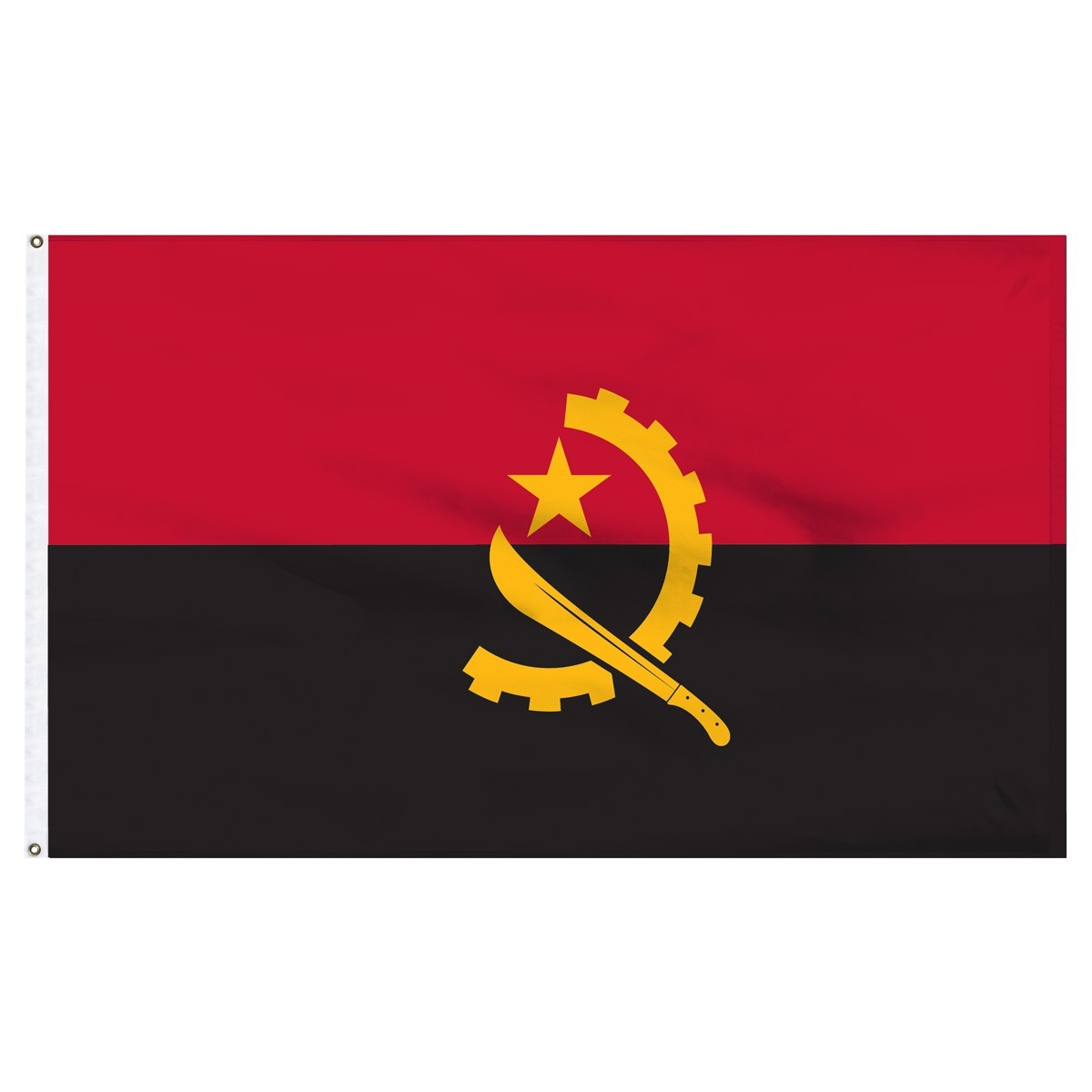 Angola 2' x 3' Outdoor Nylon Country Flag