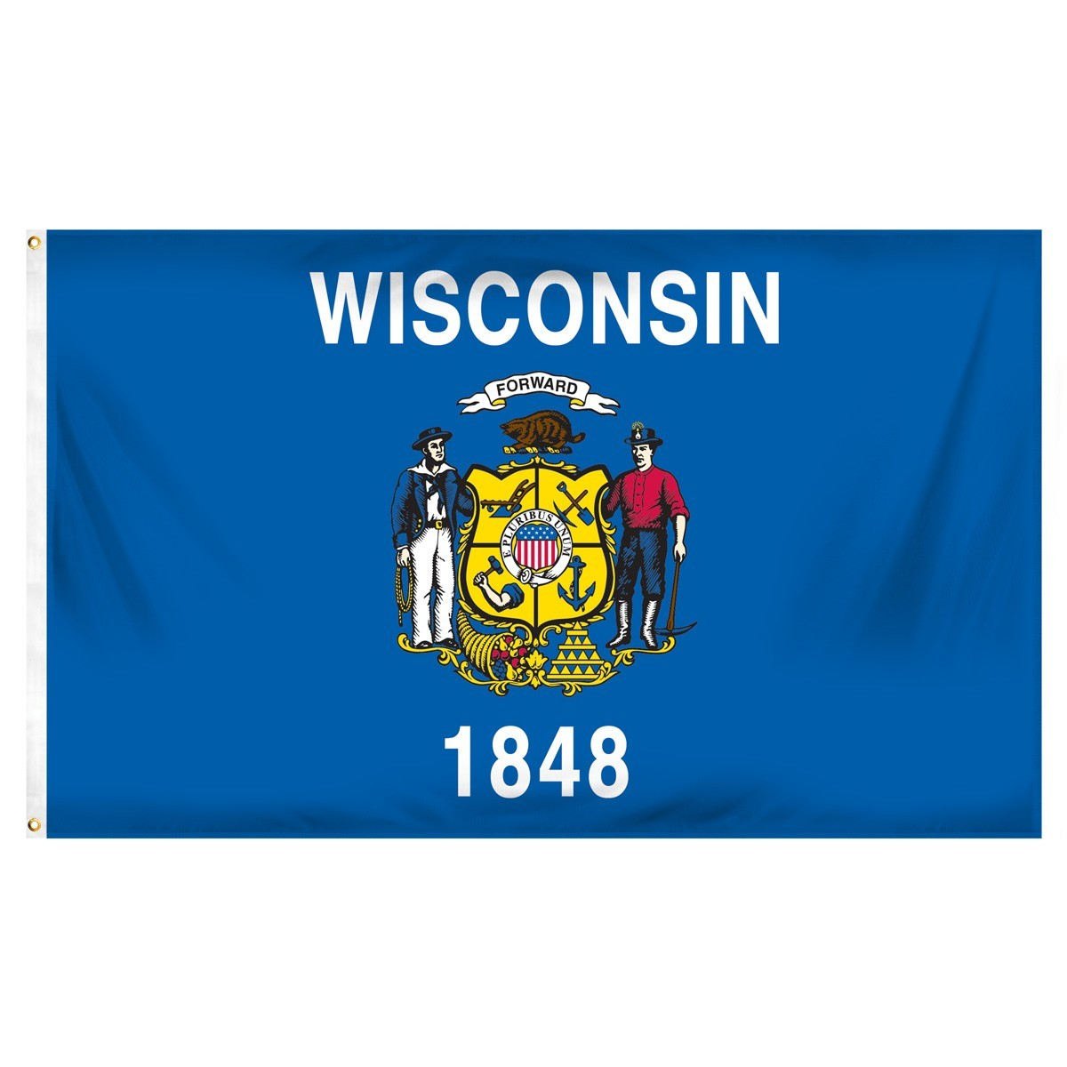 Wisconsin  3' x 5' Indoor Polyester Flag