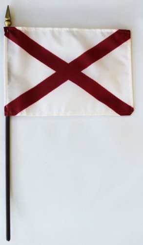 "Alabama  4"" x 6"" Mounted Flags"