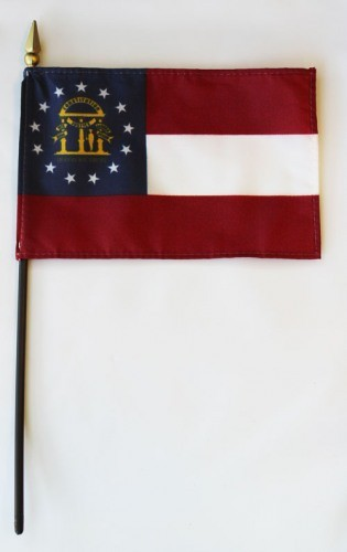 "Georgia  4"" x 6"" Mounted Flags"