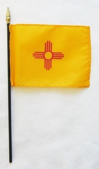 "New Mexico  4"" x 6"" Mounted Flags"
