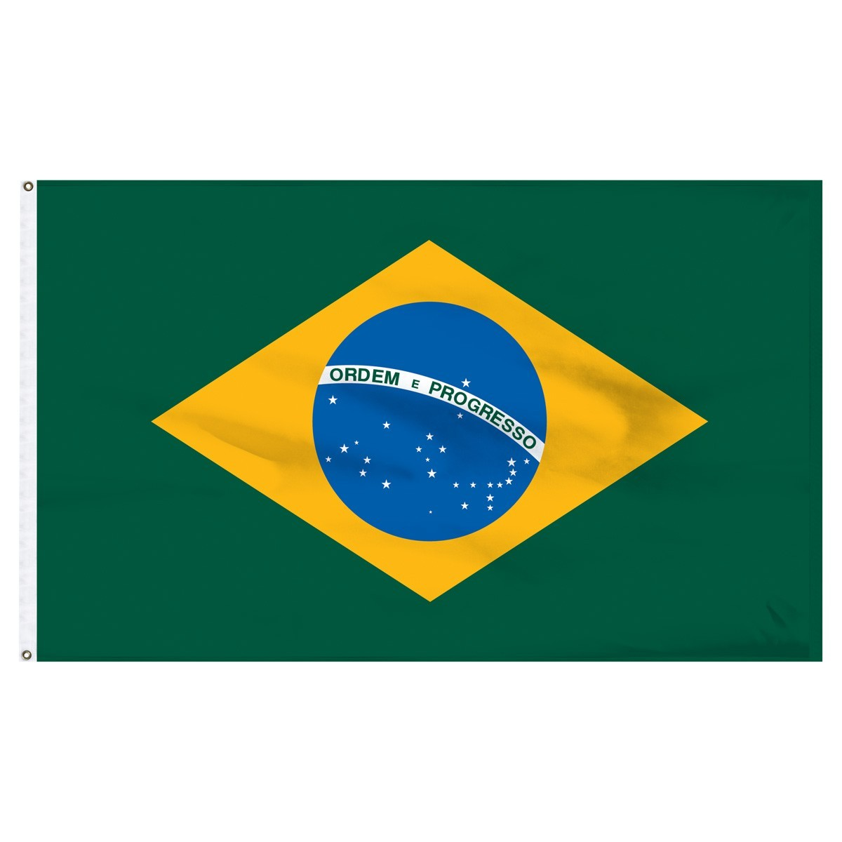 Brazil 3ft x 5ft High Quality Outdoor Nylon Country Flag