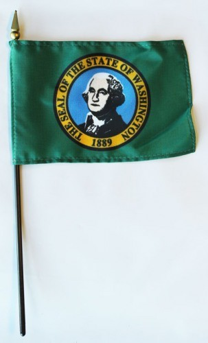 "Washington  4"" x 6"" Mounted Flags"
