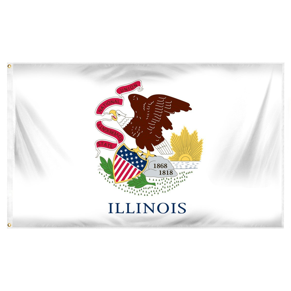Illinois flags for sale by 1-800 Flags