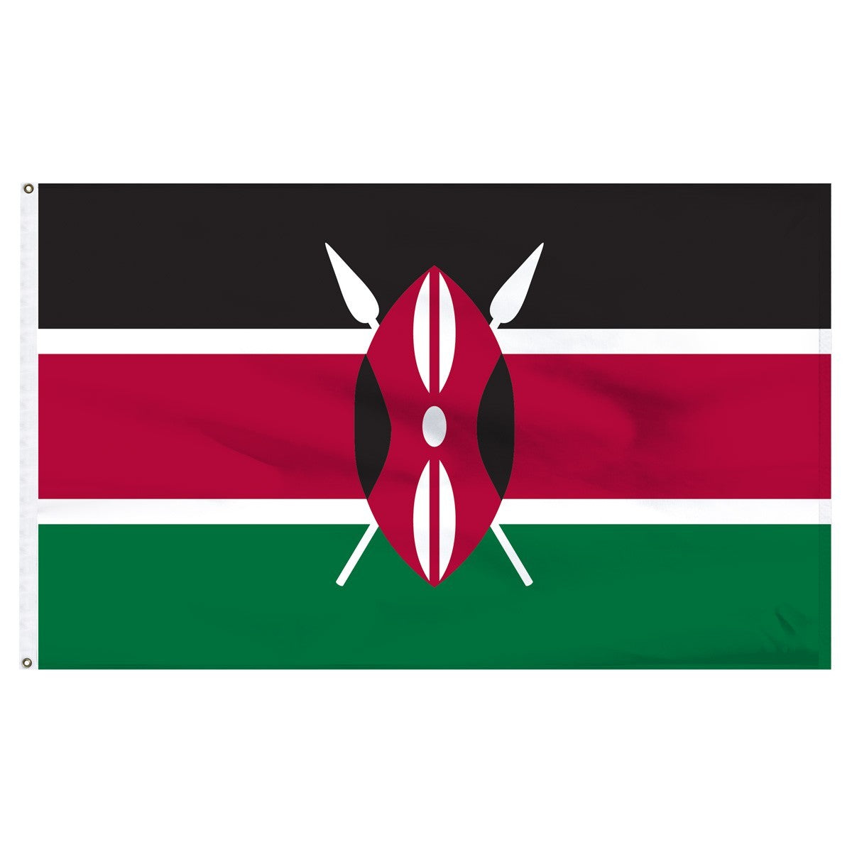Kenya 3' x 5' Outdoor Nylon Flag