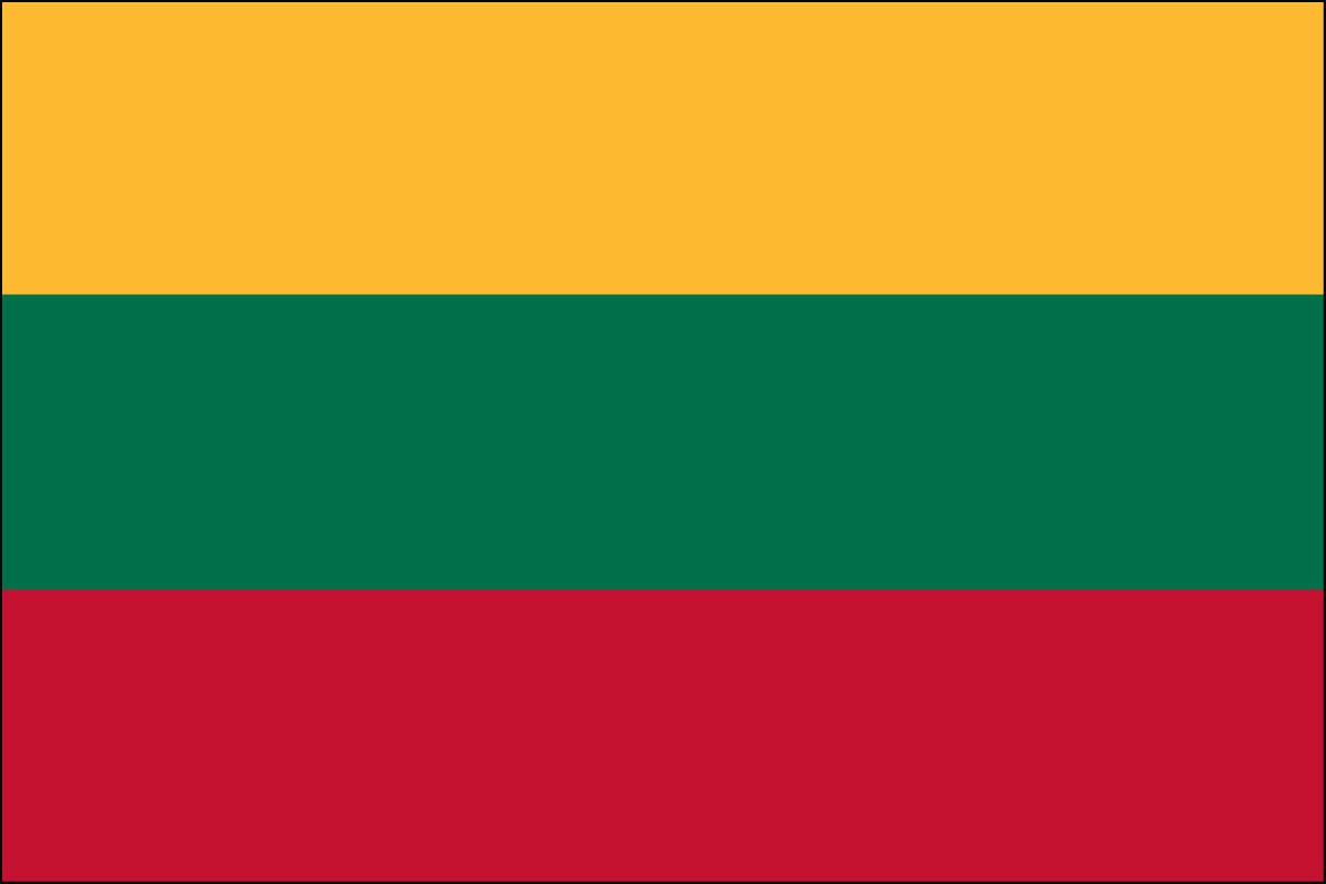Lithuania 3' x 5' Outdoor Nylon Flag