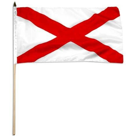 "Alabama  12"" x 18"" Mounted Flag"