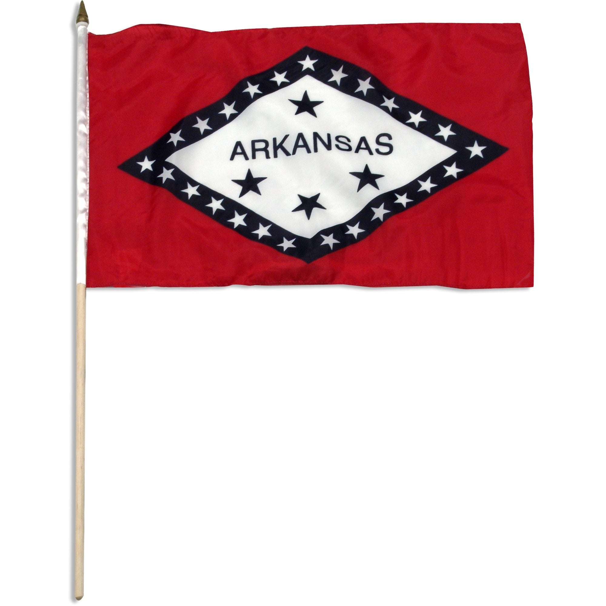 "Arkansas  12"" x 18"" Mounted Flag"
