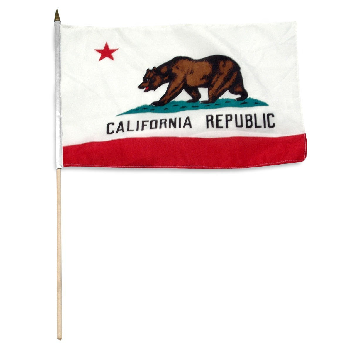 "California  12"" x 18"" Mounted Flag"