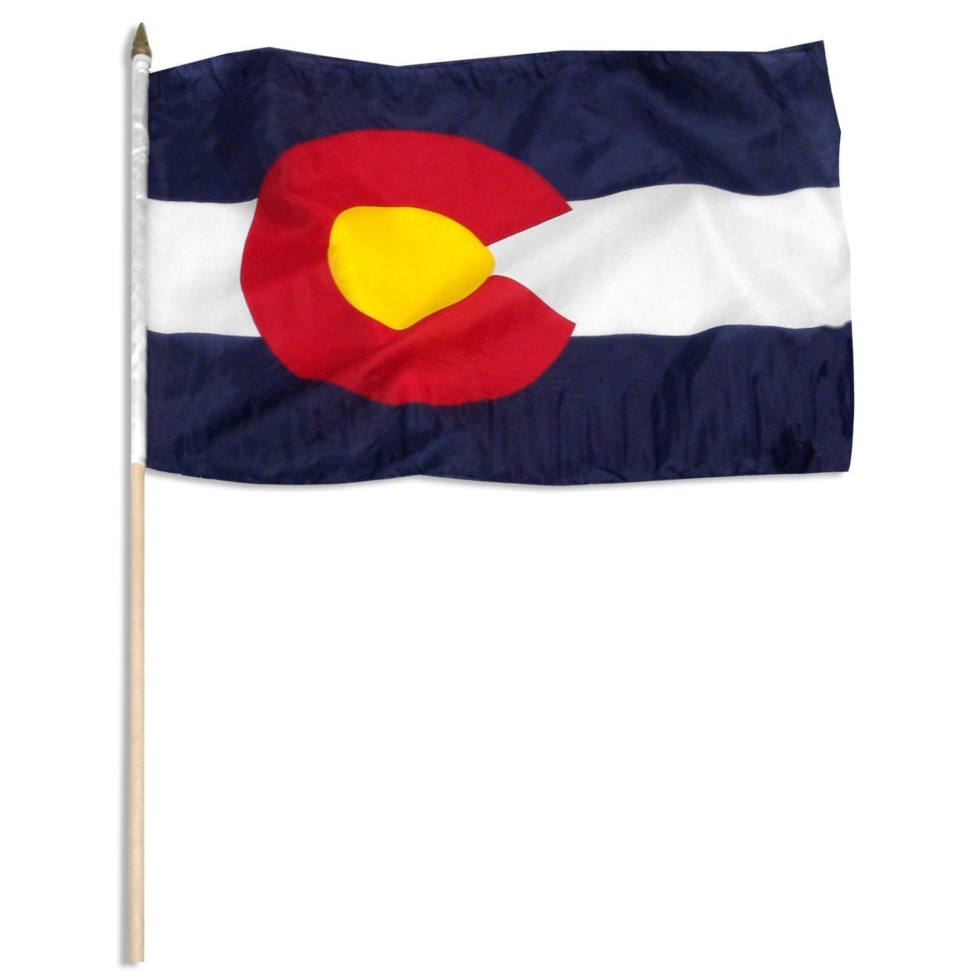 "Colorado  12"" x 18"" Mounted Stick Flag"