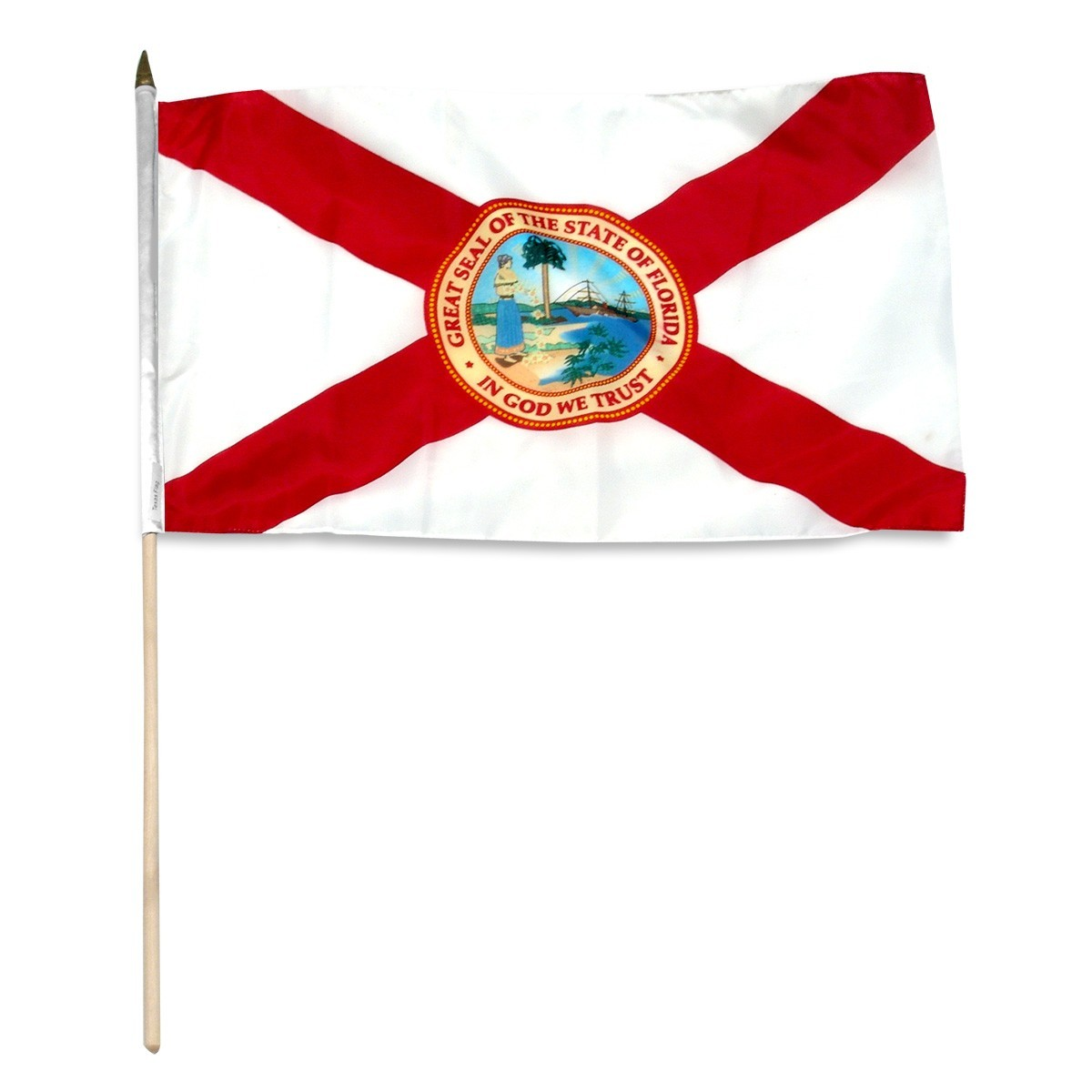 "Florida  12"" x 18"" Mounted Flag"
