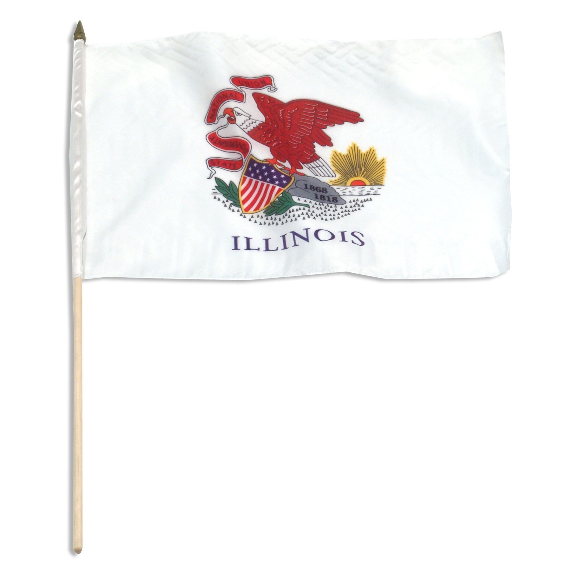 "Illinois  12"" x 18"" Mounted Flag"