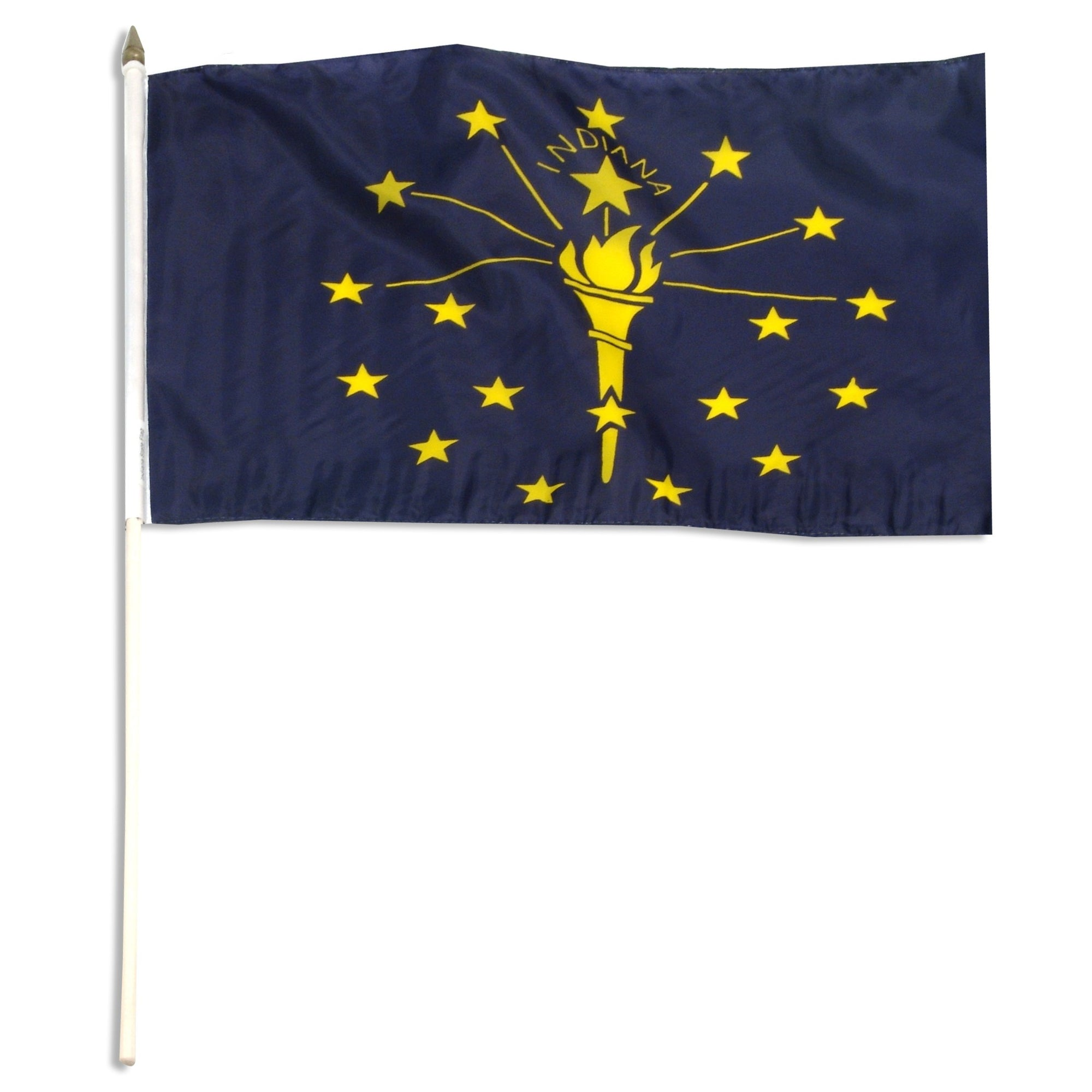 "Indiana  12"" x 18"" Mounted Flag"