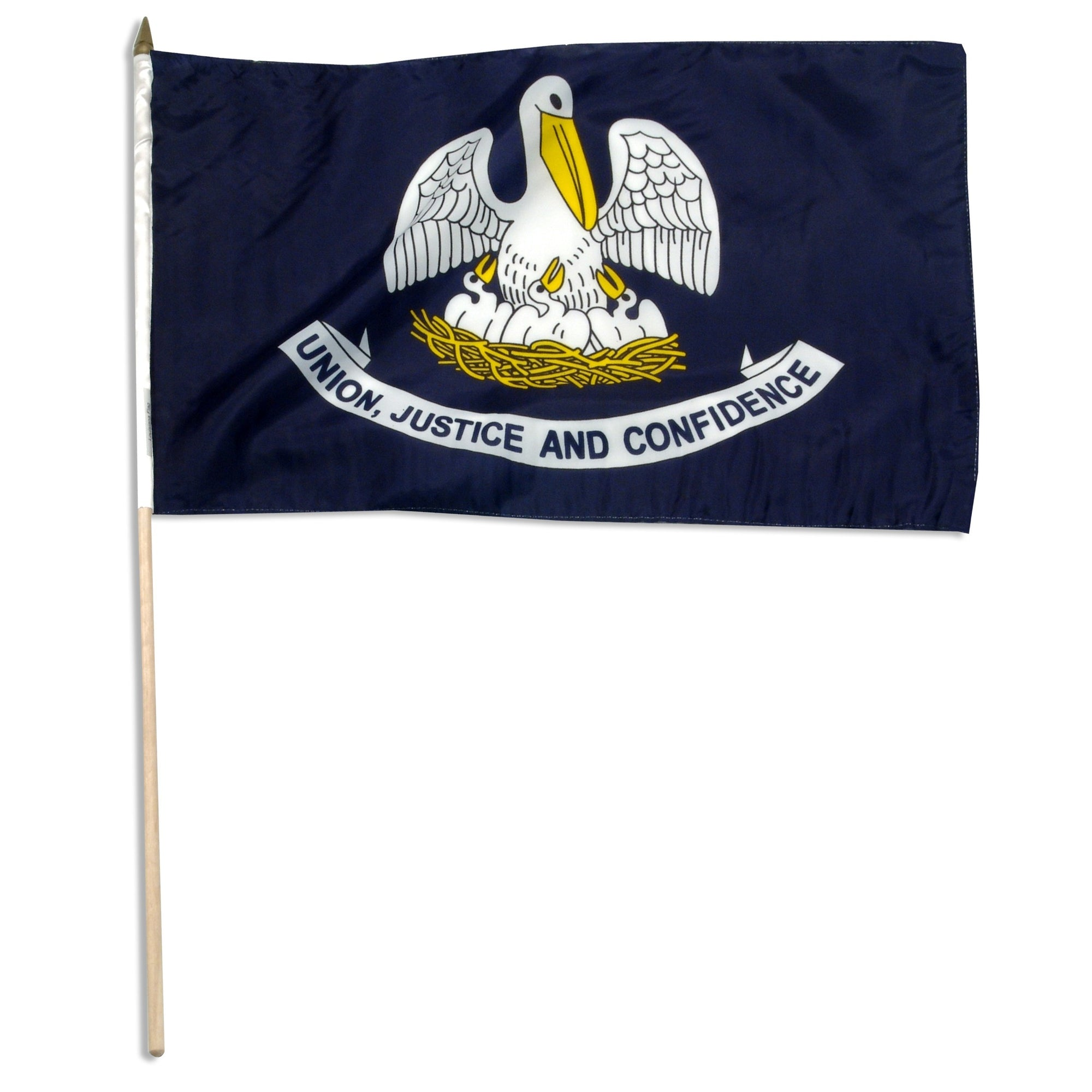 "Louisiana  12"" x 18"" Mounted Flag"