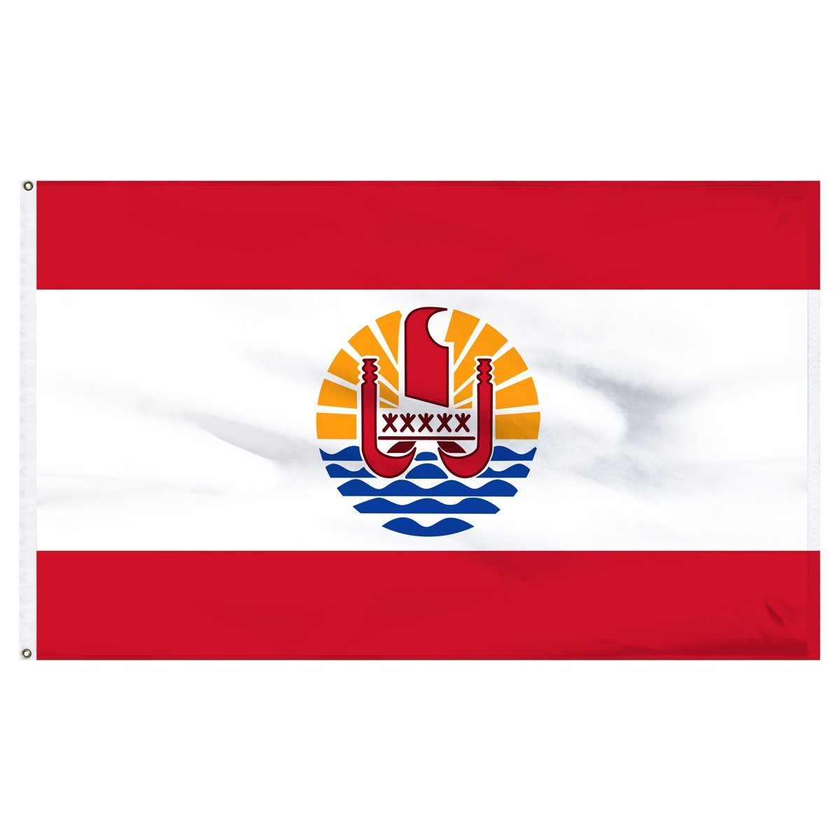 French Polynesia 4' x 6' Outdoor Nylon Flag