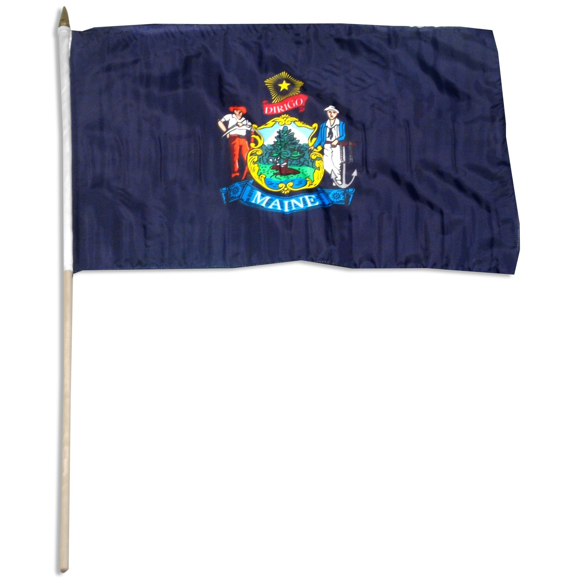 "Maine  12"" x 18"" Mounted Flag"