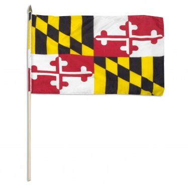 "Maryland  12"" x 18"" Mounted Flag"