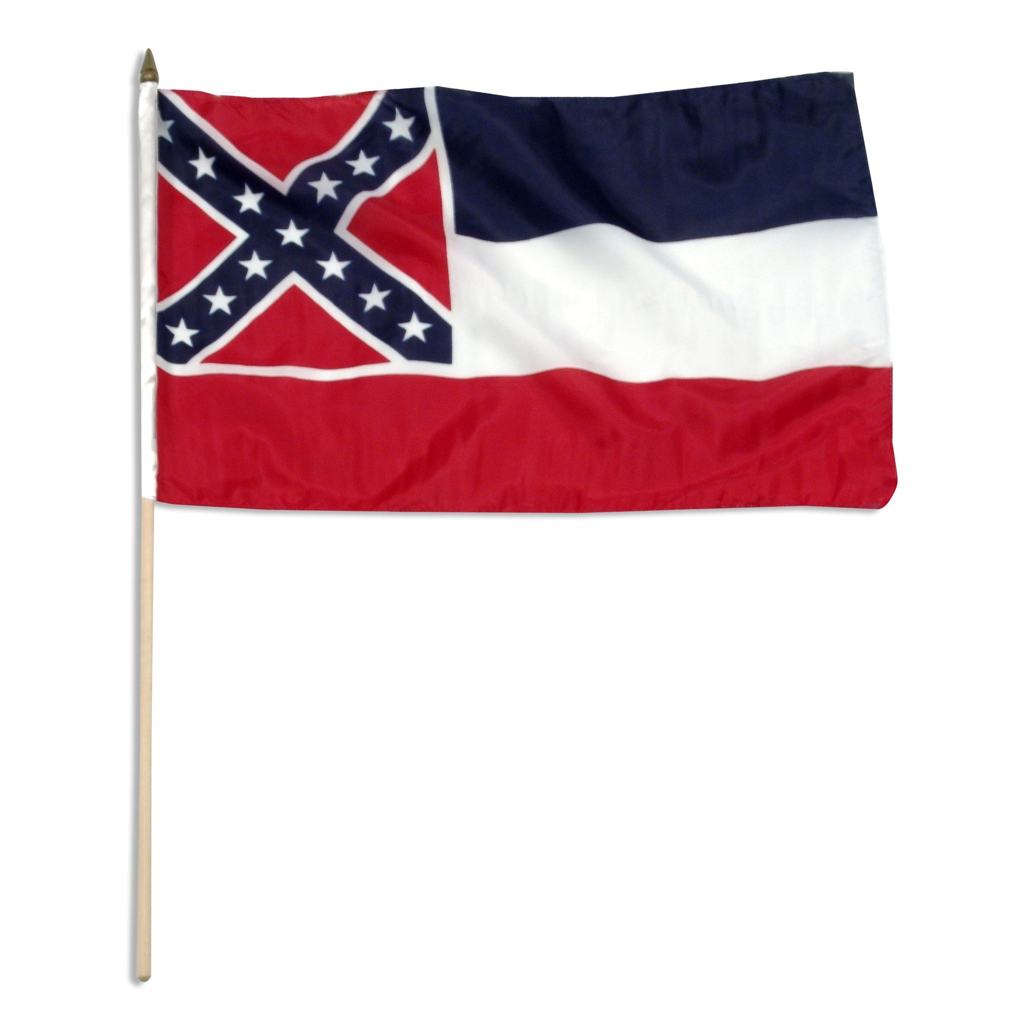 "Mississippi  12"" x 18"" Mounted Flag"